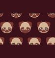 cute pug faces vector image