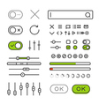 Different style trendy interface elements and vector image