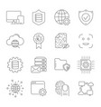 digital technology related line icons vector image vector image