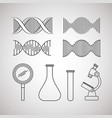 dna molecule structure set icons vector image vector image