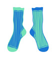 doodle pair colored socks for design vector image