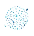 Doves and pigeons set in a circle for peace vector image vector image