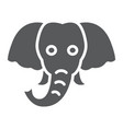 elephant glyph icon animal and zoo vector image