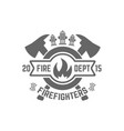 fire department monochrome emblem vector image vector image