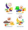 food diet types healthy vector image