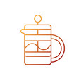 french press gradient linear icon