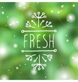 Fresh - product label on blurred background vector image vector image