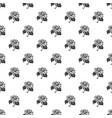 garden sunflower pattern seamless vector image vector image