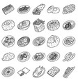 germany food set icon doodle hand drawn or vector image