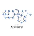 granisetron serotonin receptor antagonist vector image vector image