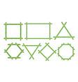 green bamboo frames flat set vector image