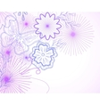 Hand-drawn flowers and butterfly vector image vector image