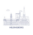 helsingborg vector image vector image