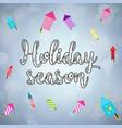 holiday season card vector image