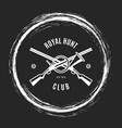 hunting club grunge emblem vector image vector image