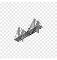 isolated highway isometric bridge element vector image vector image