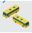 isometric space - yellow bus vector image