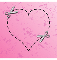 Love coupon borders vector image