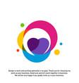 love heart creative logo concepts abstract