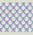 mermaid tail scales seamless pattern vector image