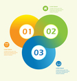 Modern Circle Infographic Design template vector image
