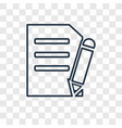 new document concept linear icon isolated on vector image