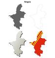 Ningxia Hui blank outline map set vector image vector image