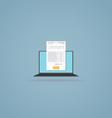 Online billing document vector image vector image