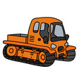 Orange tracked vehicle vector image vector image