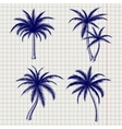 Palm sketches in ball pen style vector image vector image