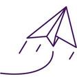 paper plane icon outline symbol design vector image