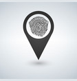 pin icon with fingerprint vector image vector image