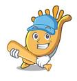 playing baseball exotic shell character cartoon vector image