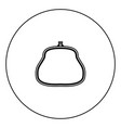 purse icon black color in circle vector image