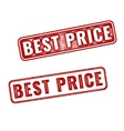 Realistic Best Price stamps isolated vector image vector image