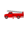 red fire truck with ladder emergency vehicle vector image vector image