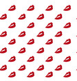red lips pattern seamless vector image vector image