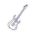 rock electric guitar vector image vector image