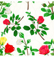 seamless texture bouquet of rosebuds vector image vector image
