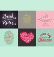 set motivational and inspirational hand drawn vector image vector image
