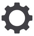 setting gear tool cog isolated flat web mobile vector image vector image