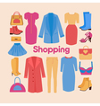 Shopping and Beauty Set in Flat Design Accessories vector image vector image