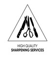 simple black sharpening services icon sign vector image vector image