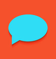 speech bubble icon whitish icon on brick vector image vector image