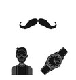 style hipster black icons in set collection for vector image vector image