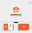 sunrise or sunset movie roll simple logo template vector image