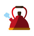 teapot kitchen utensil icon vector image