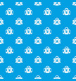 travel bag pattern seamless blue vector image
