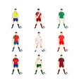 various football uniform national world team set vector image