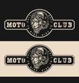 vintage monochrome bikers club label vector image vector image